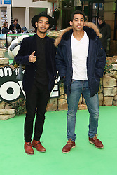 © Licensed to London News Pictures. 25/01/2015, UK. Rizzle Kicks, Shaun the Sheep Movie - European Film Premiere, Leicester Square, London UK, 25 January 2015. Photo credit : Richard Goldschmidt/Piqtured/LNP