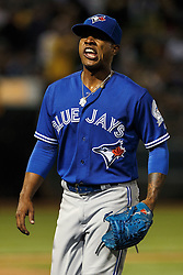 OAKLAND, CA - JULY 15:  Marcus Stroman #6 of the Toronto Blue Jays reacts after being relieved against the Oakland Athletics during the fifth inning at the Oakland Coliseum on July 15, 2016 in Oakland, California. (Photo by Jason O. Watson/Getty Images) *** Local Caption *** Marcus Stroman