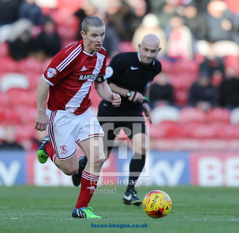 Grant Leadbitter of Middlesbrough during the Sky Bet Championship match at the Riverside Stadium, Middlesbrough<br /> Picture by Simon Moore/Focus Images Ltd 07807 671782<br /> 13/12/2014