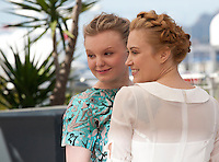 Maria Dragus and Malina Manovici at the gala screening for the film Graduation (Bacalaureat) at the 69th Cannes Film Festival, Thursday 19th May 2016, Cannes, France. Photography: Doreen Kennedy