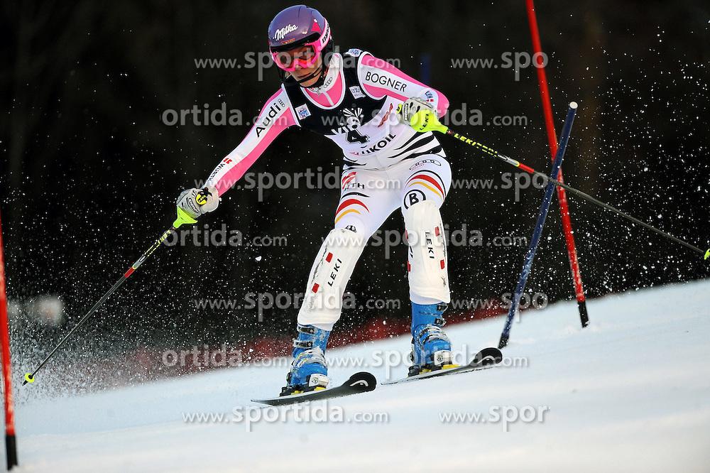04.01.2013, Crveni Spust, Zagreb, AUT, FIS Ski Alpin Weltcup, Slalom, Damen, 1. Lauf, im Bild Maria Hoefl-Riesch (GER) // Maria Hoefl-Riesch of Germany  in action during 1st Run of the ladies Slalom of the FIS ski alpine world cup at Crveni Spust course in Zagreb, Croatia on 2013/01/04. EXPA Pictures © 2013, PhotoCredit: EXPA/ Erich Spiess