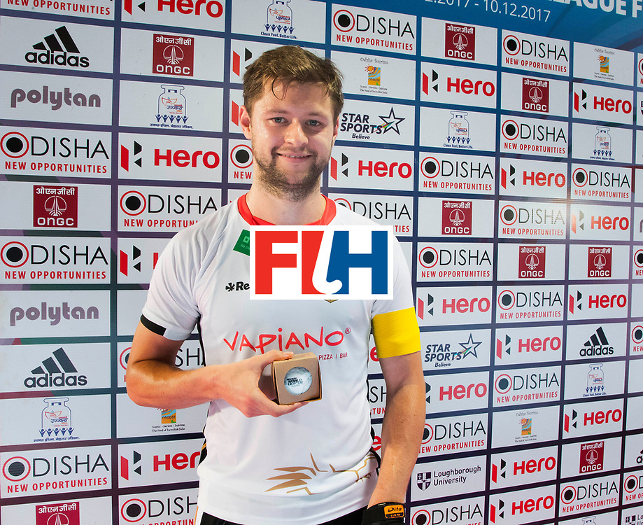 BHUBANESWAR - The Odisha Men's Hockey World League Final . Match ID 01 . Martin Haener (Ger) played is 200e cap.  WORLDSPORTPICS COPYRIGHT  KOEN SUYK