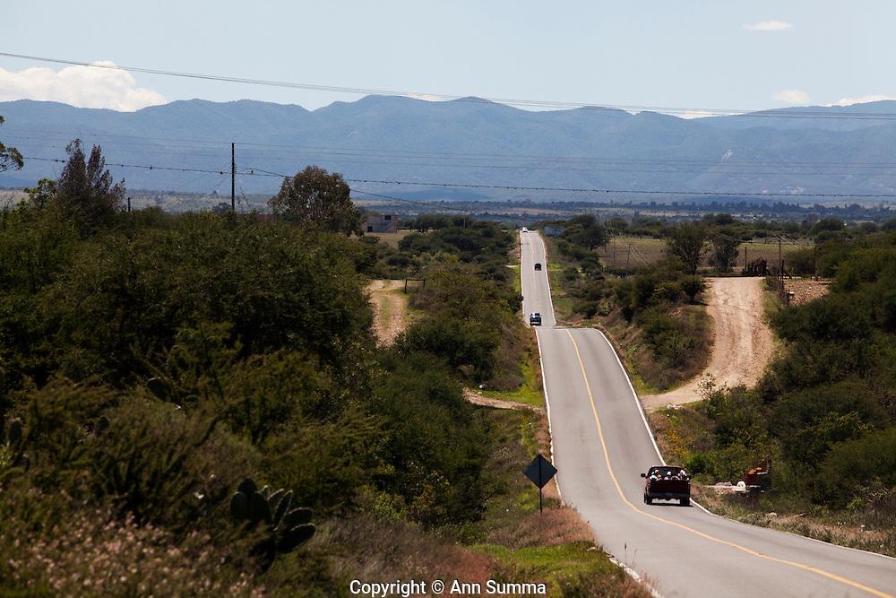 Delores Hidalgo, Mexico: La Ruta de la independencia, or Ruta 2010, is the highway between San Miguel de Allende, Delores Hidalgo, and Guanajuato in the State of Guanajuato, Mexico. Pictured here is the road from Delores to Guanajuato (photo: Ann Summa).
