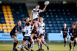 Poppy Leitch of Bristol Bears Women wins the ball at a line out - Mandatory by-line: Robbie Stephenson/JMP - 01/12/2019 - RUGBY - Sixways Stadium - Worcester, England - Worcester Warriors Women v Bristol Bears Women - Tyrrells Premier 15s