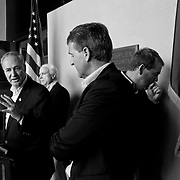 From L to R. Senator Chuck Schumer (D-NY),U.S. Senator John McCain (R-AZ),  Senator Jeff Flake (R-AZ) , and U.S. Senator Michael Bennet (D-CO) gathered for the press conference at Santa Cruz County Complex in Nogales, Arizona on Wednesday March 27, 2013. after they took a U.S./ Mexico border tour. <br />  Schumer said was making his first trip the Arizona-Mexico border. He described the &ldquo;extensive tour,&rdquo; met with the Border Patrol and took a helicopter flight. He said he planned to meet later in the day with Arizona Hispanic leaders.