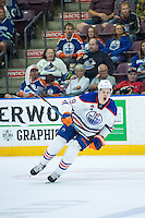 PENTICTON, CANADA - SEPTEMBER 16: Jesse Puljujarvi #39 of Edmonton Oilers calls for the pass against the Vancouver Canucks  on September 16, 2016 at the South Okanagan Event Centre in Penticton, British Columbia, Canada.  (Photo by Marissa Baecker/Shoot the Breeze)  *** Local Caption *** Jesse Puljujarvi;