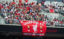 BALTIMORE, MD - Saturday, July 28, 2012: Liverpool supporters during a pre-season friendly match against Tottenham Hotspur at the M&T Bank Stadium. (Pic by David Rawcliffe/Propaganda)