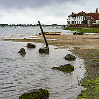 Low tide in Bosham in West Sussex England