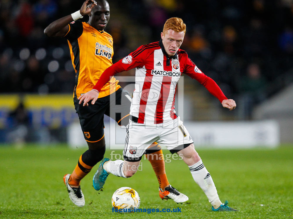 Ryan Woods of Brentford during the Sky Bet Championship match between Hull City and Brentford at KC Stadium, Hull<br /> Picture by Mark D Fuller/Focus Images Ltd +44 7774 216216<br /> 26/04/2016