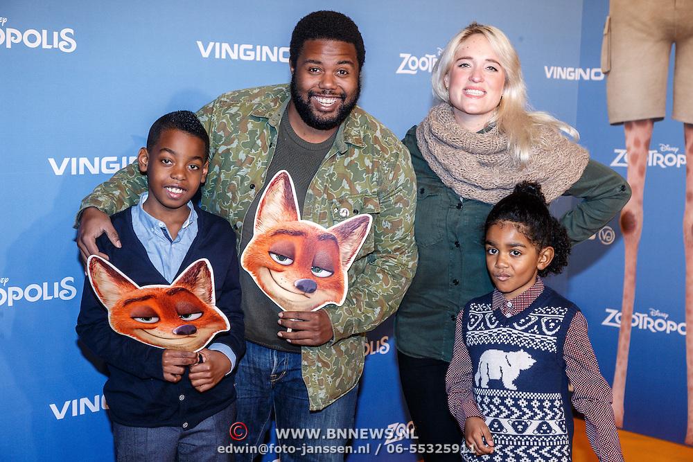NLD/Amsterdam/20160213 - Premiere Zootropolis, Uriah Arnhem