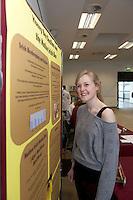 "Bromwin Young 3rd year Zoology at the ""undergrad"" Science Fair in NUIG. Photo:Andrew Downes"
