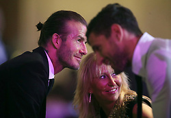 David Beckham during the Professional Footballers' Association Awards 2017 at the Grosvenor House Hotel, London