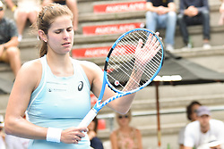 January 7, 2018 - Auckland, Auckland, New Zealand - Julia Goerges of German celebrates wining points in her final match against Caroline Wozniacki of Denmark during the WTA Women's Tournament at ASB Centre Count in Auckland, New Zealand on Jan 7, 2018.  She wins the match, beating Caroline Wozniacki 6-4 7-6. (Credit Image: © Shirley Kwok/Pacific Press via ZUMA Wire)