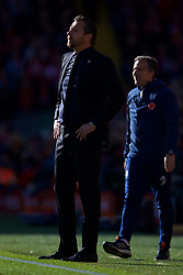 LIVERPOOL, ENGLAND - Sunday, November 11, 2018: Fulham's manager Slaviša Jokanović during the FA Premier League match between Liverpool FC and Fulham FC at Anfield. (Pic by David Rawcliffe/Propaganda)