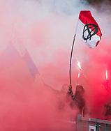 BILTHOVEN - Supporters Almere , De Allyminati – de supporters van Almere  tijdens de competitiewedstrijd heren,  SCHC-Almere (3-2) . COPYRIGHT KOEN SUYK