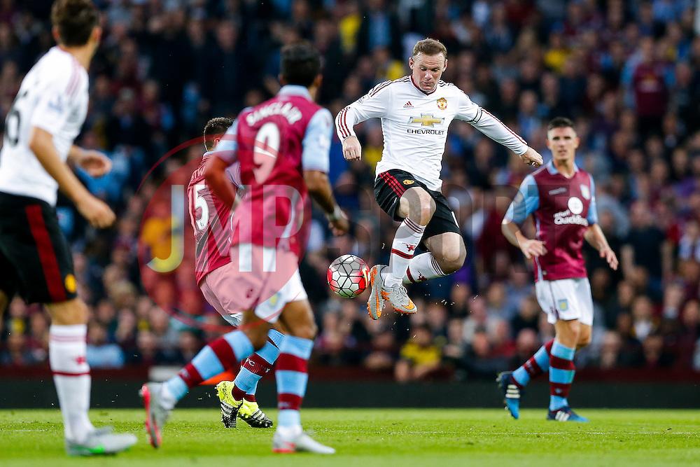 Wayne Rooney of Manchester United in action - Mandatory byline: Rogan Thomson/JMP - 07966 386802 - 14/08/2015 - FOOTBALL - Villa Park Stadium - Birmingham, England - Aston Villa v Manchester United - Barclays Premier League.