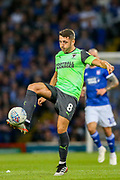 AFC Wimbledon midfielder Anthony Hartigan (8) on the ball during the EFL Sky Bet League 1 match between Ipswich Town and AFC Wimbledon at Portman Road, Ipswich, England on 20 August 2019.