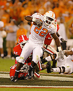 Tennessee TB LaMarcus Coker during the game between the Georgia Bulldogs and the Tennessee Volunteers at Sanford Stadium in Athens, GA on October 7, 2006.<br />