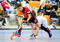 ROTTERDAM  - NK Zaalhockey,   halve finale heren Oranje Rood-SCHC (SCHC wint en plaatst zich voor de finale) . Bram Huijbregts (Oranje-Rood)  COPYRIGHT KOEN SUYK
