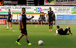*Caption Correction* Hull City manager Steve Bruce speaks on his phone as his players warm up - Mandatory by-line: Matt McNulty/JMP - 19/07/2016 - FOOTBALL - One Call Stadium - Mansfield, England - Mansfield Town v Hull City - Pre-season friendly