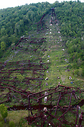 Northcentral Pennsylvania, Kinzua Bridge fallen from tornado, McKean County