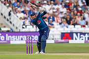 England ODI batsman Alex Hales with a boundary during the third Royal London One Day International match between England and Australia at Trent Bridge, West Bridgford, United Kingdom on 19 June 2018. Picture by Simon Davies.