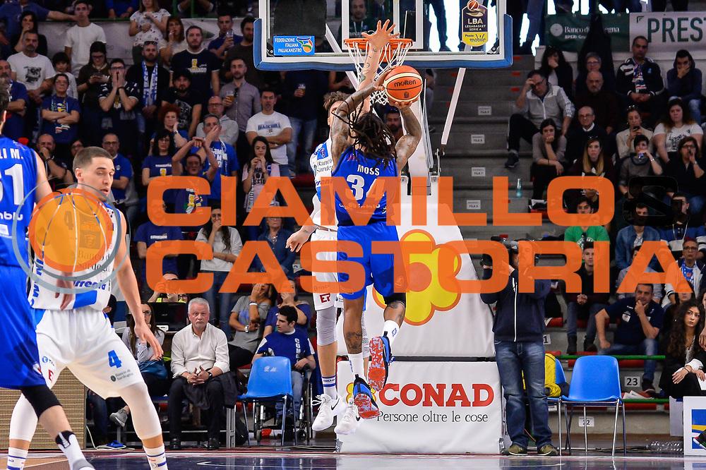David Moss, Achille Polonara<br /> Banco di Sardegna Dinamo Sassari - Germani Basket Leonessa Brescia<br /> Legabasket Serie A LBA PosteMobile 2017/2018<br /> Sassari, 08/04/2018<br /> Foto L.Canu / Ciamillo-Castoria