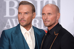 Luke Goss and Matt Goss attending the Brit Awards 2019 at the O2 Arena, London. Photo credit should read: Doug Peters/EMPICS. EDITORIAL USE ONLY