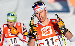 29.01.2017, Casino Arena, Seefeld, AUT, FIS Weltcup Nordische Kombination, Seefeld Triple, Langlauf, im Bild David Pommer (AUT) // David Pommer of Austria reacts after Cross Country Gundersen Race of the FIS Nordic Combined World Cup Seefeld Triple at the Casino Arena in Seefeld, Austria on 2017/01/29. EXPA Pictures © 2017, PhotoCredit: EXPA/ JFK