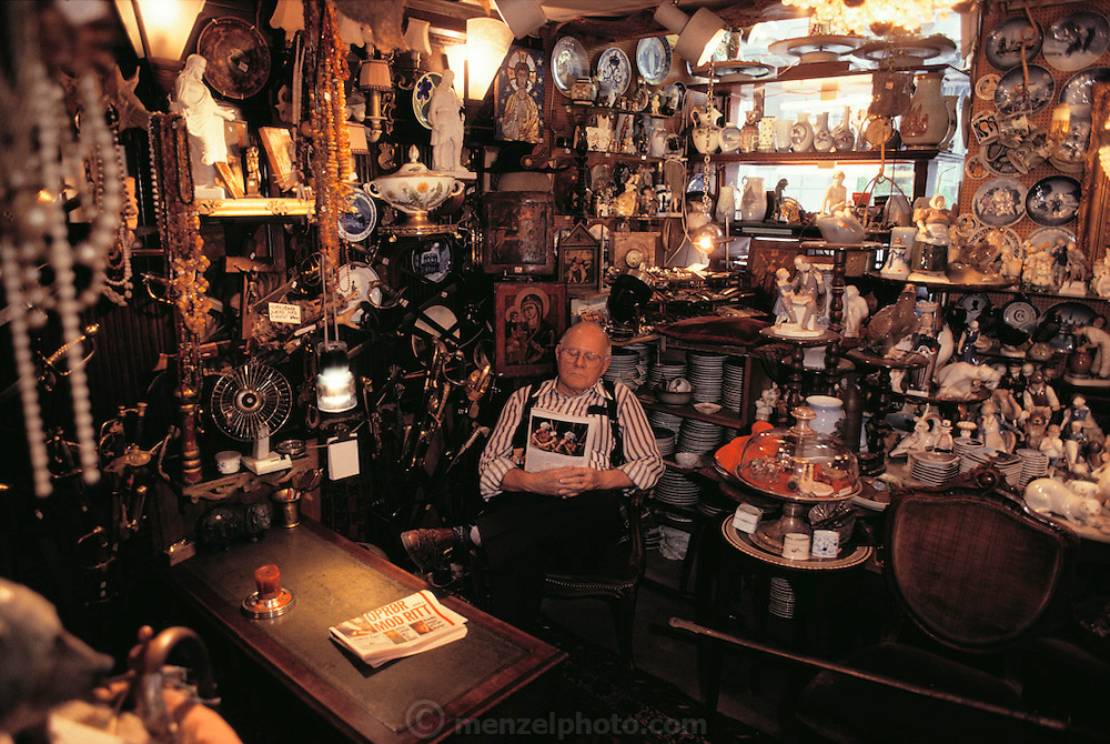 Antique shop. Copenhagen, Denmark.