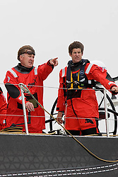 © Sander van der Borch.Alicante, 11 October 2008. Start of the Volvo Ocean Race. Andrew Cape and Jonathan McKee discussing tactical options before the start. .