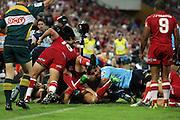 Queensland Reds v NSW Waratahs. Investec Super Rugby Round 10 Match, 24 April 2011. Suncorp Stadium, Brisbane, Australia. Reds won 19-15. Photo: Clay Cross / photosport.co.nz