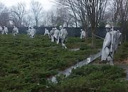 © Licensed to London News Pictures. 01/01/2013. Washington DC, USA . The Korean War Monument.  Photo credit : Stephen Simpson/LNP