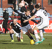 Dundee&rsquo;s Greg Stewart goes past Inverness&rsquo; Ross Draper - Dundee v Inverness Caledonian Thistle - Ladbrokes Scottish Premiership at Dens Park<br /> <br />  - &copy; David Young - www.davidyoungphoto.co.uk - email: davidyoungphoto@gmail.com