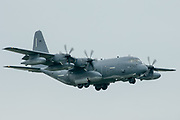 A US Air Force C-130 Hercules arrives at RAF Mildenhall on 10 June 2020.