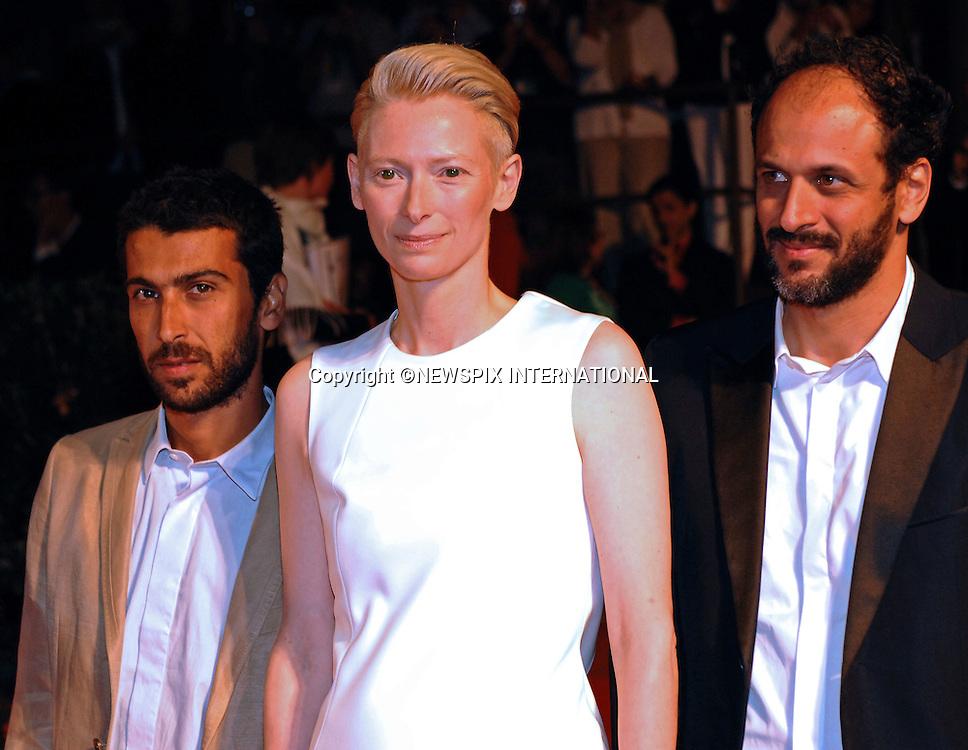 "TILDA SWINTON, LUCA GUADAGNINO AND EDOARDO GABBRIELLINI.Io Sono L'Amore, at the  66th Venice Film Festival , Venice_05/09/2009.Mandatory Credit Photo: ©NEWSPIX INTERNATIONAL..**ALL FEES PAYABLE TO: ""NEWSPIX INTERNATIONAL""**..IMMEDIATE CONFIRMATION OF USAGE REQUIRED:.Newspix International, 31 Chinnery Hill, Bishop's Stortford, ENGLAND CM23 3PS.Tel:+441279 324672  ; Fax: +441279656877.Mobile:  07775681153.e-mail: info@newspixinternational.co.uk"
