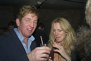 JOHNNIE BODEN AND SUSIE BROCKBANK, Discover Wilton's Music Hall, Fundraising event. Graces alley, Ensign St. London. 5 December 2007. -DO NOT ARCHIVE-© Copyright Photograph by Dafydd Jones. 248 Clapham Rd. London SW9 0PZ. Tel 0207 820 0771. www.dafjones.com.