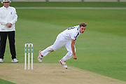 Brad Wheal of Hampshire bowling during the Specsavers County Champ Div 1 match between Hampshire County Cricket Club and Middlesex County Cricket Club at the Ageas Bowl, Southampton, United Kingdom on 14 April 2017. Photo by David Vokes.