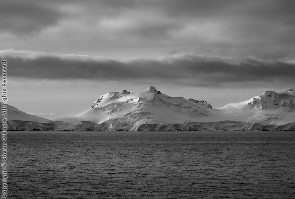 Evening on the Gerlache Strait. To continue select Palmer Station from the menu on the left.