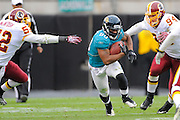 Jacksonville Jaguars wide receiver Mike Thomas (80) heads upfield during the Jags 20-17 overtime loss to the Washington Redskins at EverBank Field on Dec. 26, 2010 in Jacksonville, Fl. ©2010 Scott A. Miller
