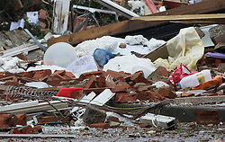 © Licensed to London News Pictures. 15/02/2017. Oxford, UK. Household goods can be seen in the rubble of the remains of a block of flats damaged in an explosion near Osney Lock in Oxford. A number of people have been injured in what is thought to have been a gas explosion. Photo credit: Peter Macdiarmid/LNP