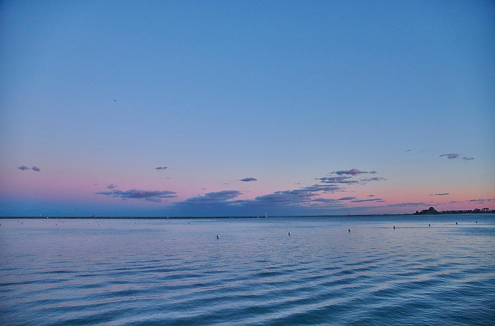 Chicago Lake Michigan Sunset