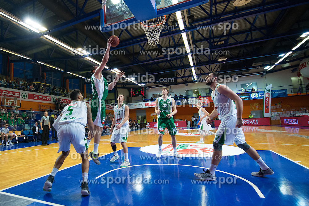 Dusko Bunic of KK Krka during basketball match between KK Krka and KK Union Olimpija Ljubljana in Final of Slovenian Spar Cup 2016/17, on February 19, 2017 in Sports hall Domzale, Slovenia. Photo by Martin Metelko / Sportida