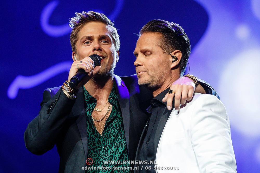 NLD/Amsterdam/20160217 - Holland zingt Hazes 2016, Dre Hazes en Danny de Munk