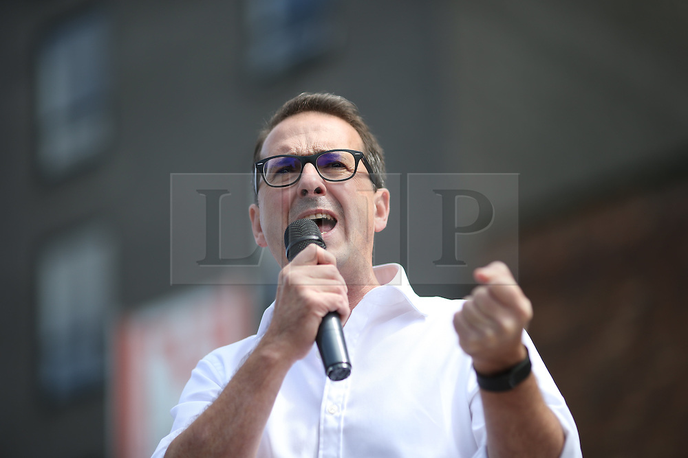 © Licensed to London News Pictures . 30/07/2016 . Liverpool , UK . Owen Smith holds a rally at the Camp and Furnace warehouse venue , in his campaign to replace Jeremy Corbyn as the leader of the Labour Party . Photo credit : Joel Goodman/LNP