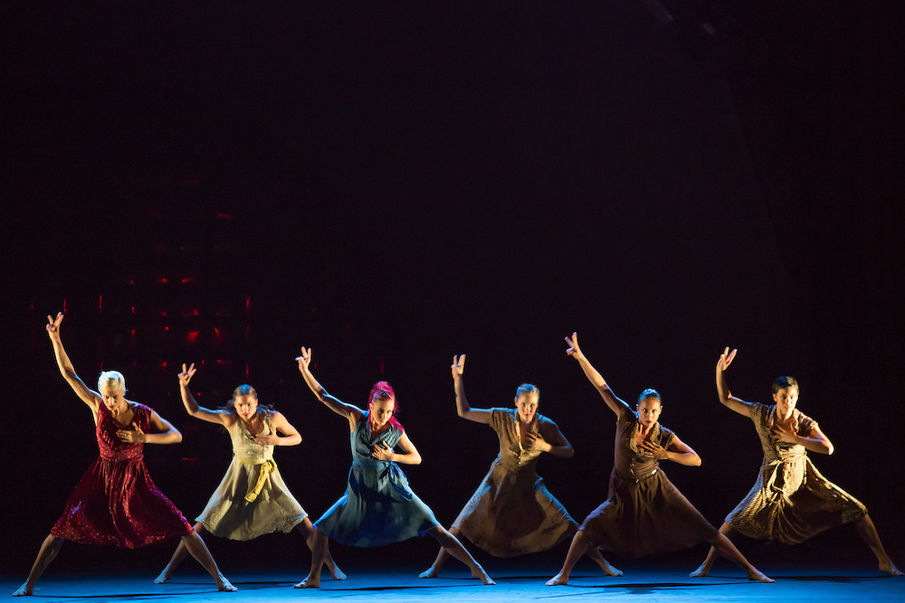 "The corps de ballet in Barak Marshall's ""Harry"", a ballet about  life and its conflicts."