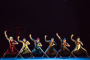 """The corps de ballet in Barak Marshall's """"Harry"""", a ballet about  life and its conflicts."""
