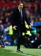 SEVILLE, SPAIN - NOVEMBER 22:  Massimiliano Allegri of Juventus reacts during the UEFA Champions League match between Sevilla FC and Juventus at Estadio Ramon Sanchez Pizjuan on November 22, 2016 in Seville, .  (Photo by Aitor Alcalde/Getty Images)