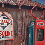 Skelly Gasoline Sign And Sinclair Ethyl Gasoline Pump - Eldorado Canyon - Nelson NV - HDR