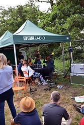 Latitude Festival 2017, Henham Park, Suffolk, UK. BBC Five Live broadcasting